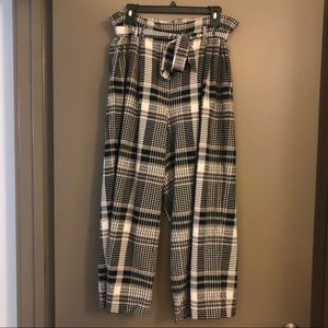 Plaid Linen Pants from Anthropologie